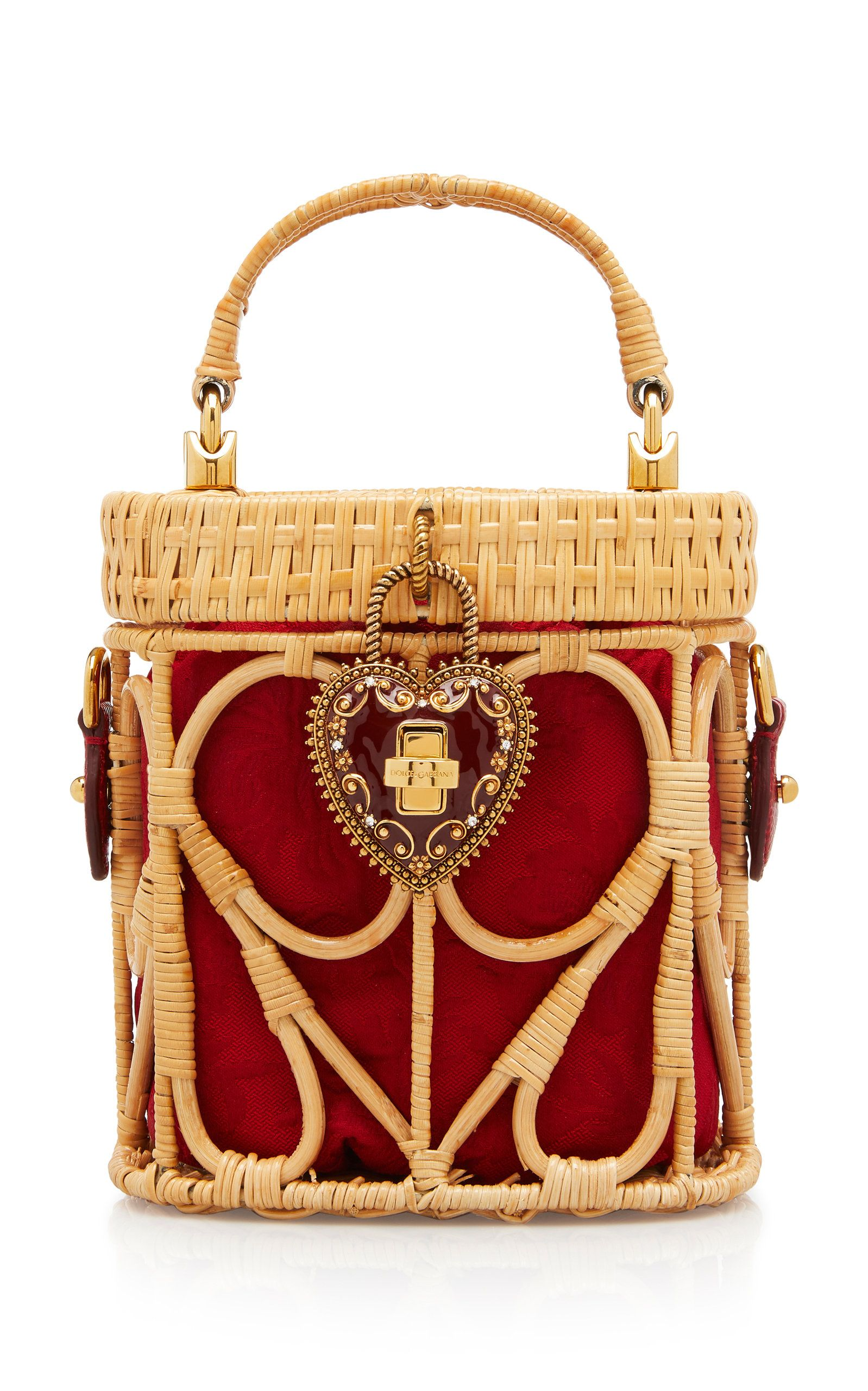 4f9806c34e5e Raffia and Leather Basket Top Handle Bag by DOLCE   GABBANA for Preorder on  Moda Operandi
