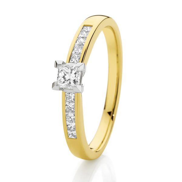 9ct Gold 0.37ct of Diamonds SJ0043