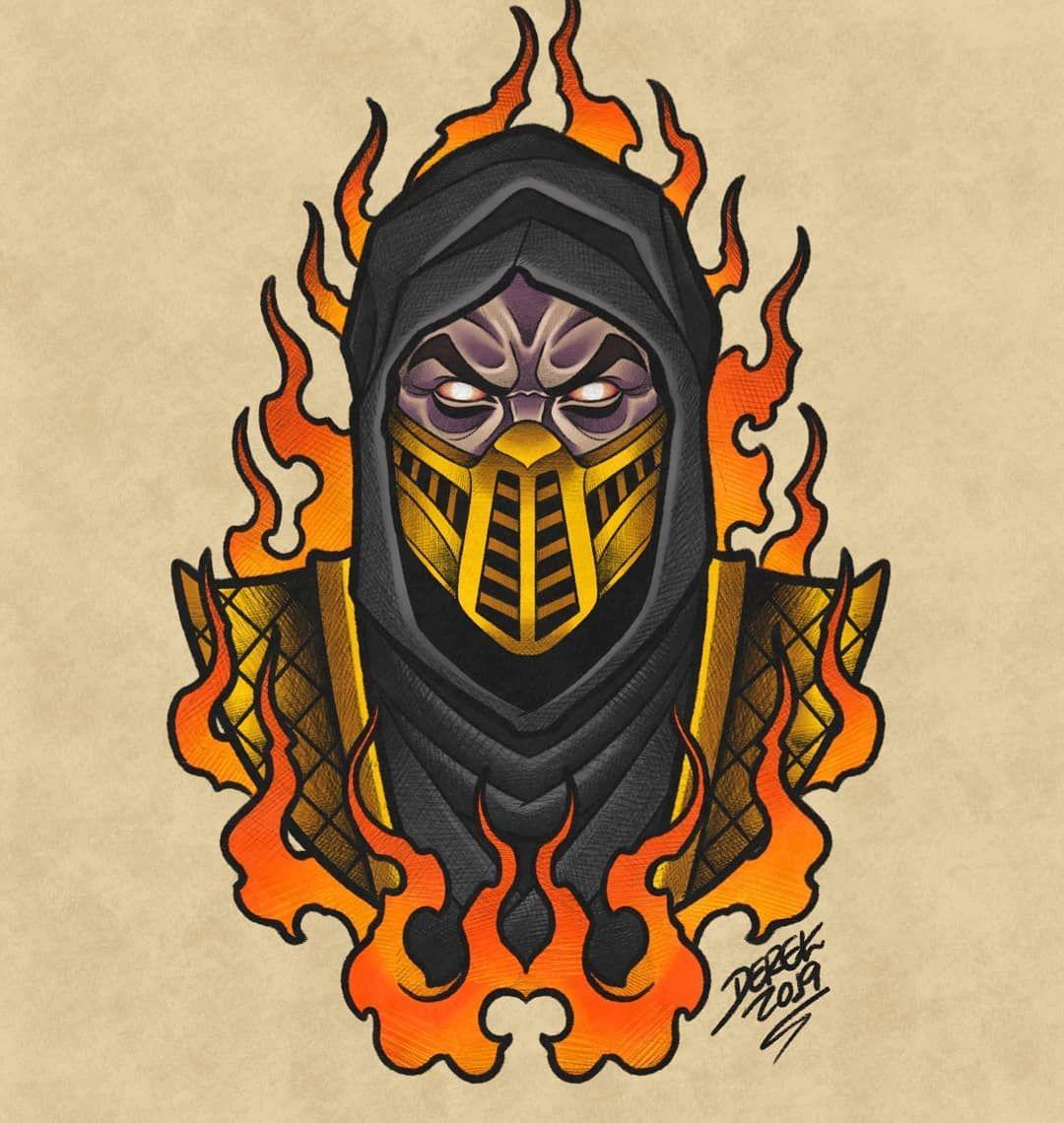 Scorpion Mortal Kombat, Tattoo Design Desenhos, Mortal