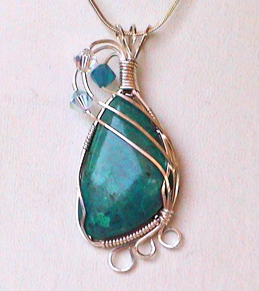Wire wrapping tutorial results! | Rock Tumbling Hobby | Jewelry ...