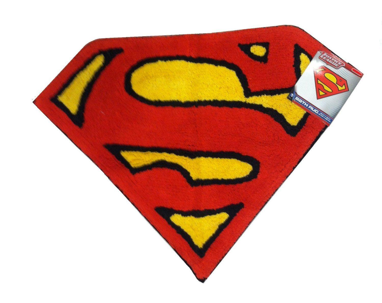 Amazon Com Justice League Superman Bathroom Rug Decor For