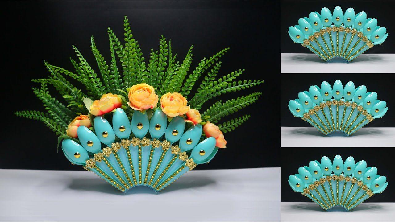 Ide Kreatif Vas Bunga Dari Sendok Plastik Bekas Kreasi Barang