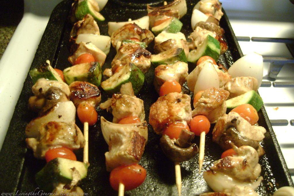 Living the Gourmet: Chicken on a Stick!