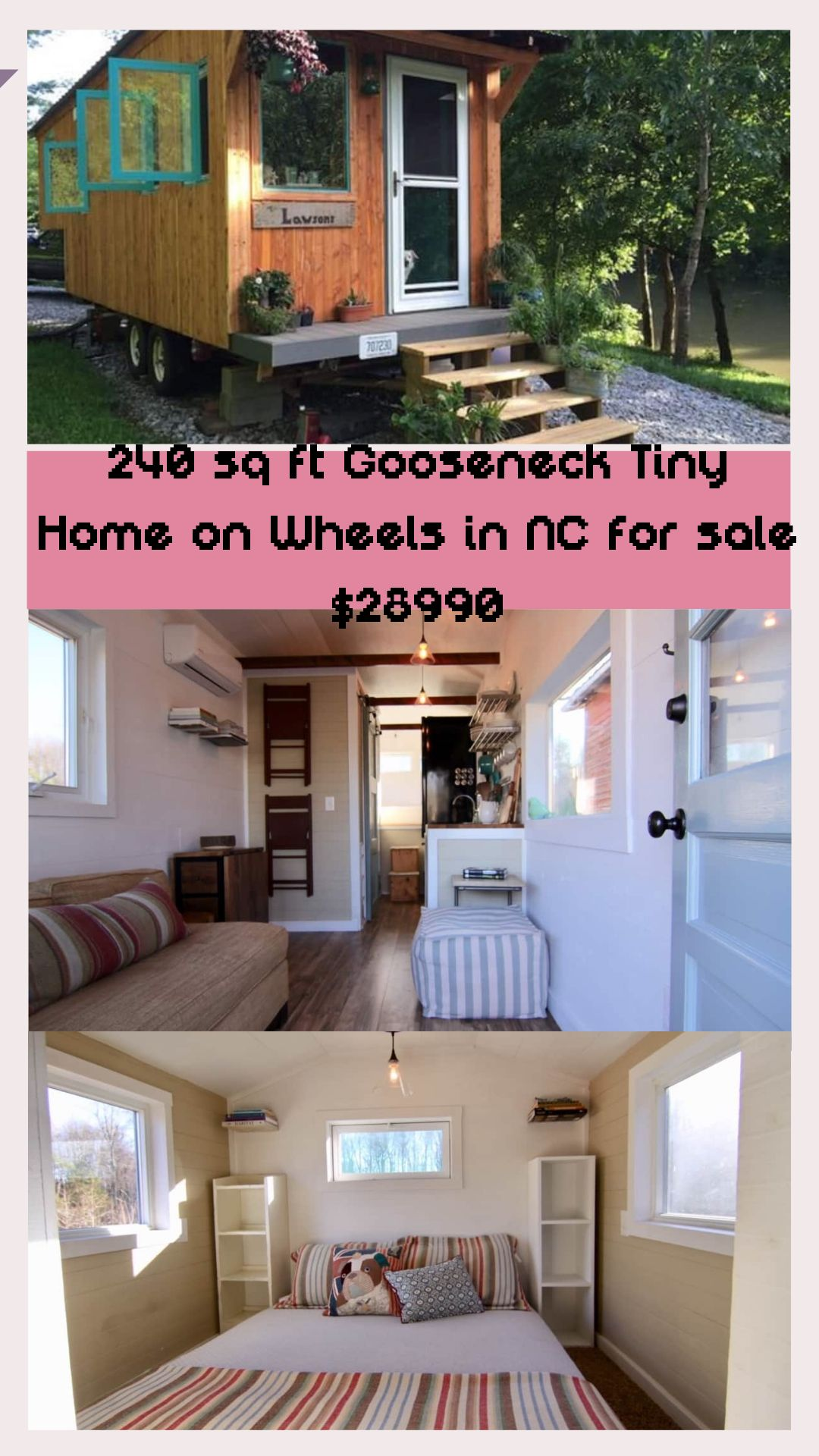240 Sq Ft Gooseneck Tiny Home On Wheels In Nc For Sale