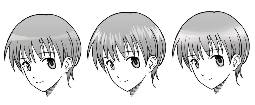 anime hair highlights