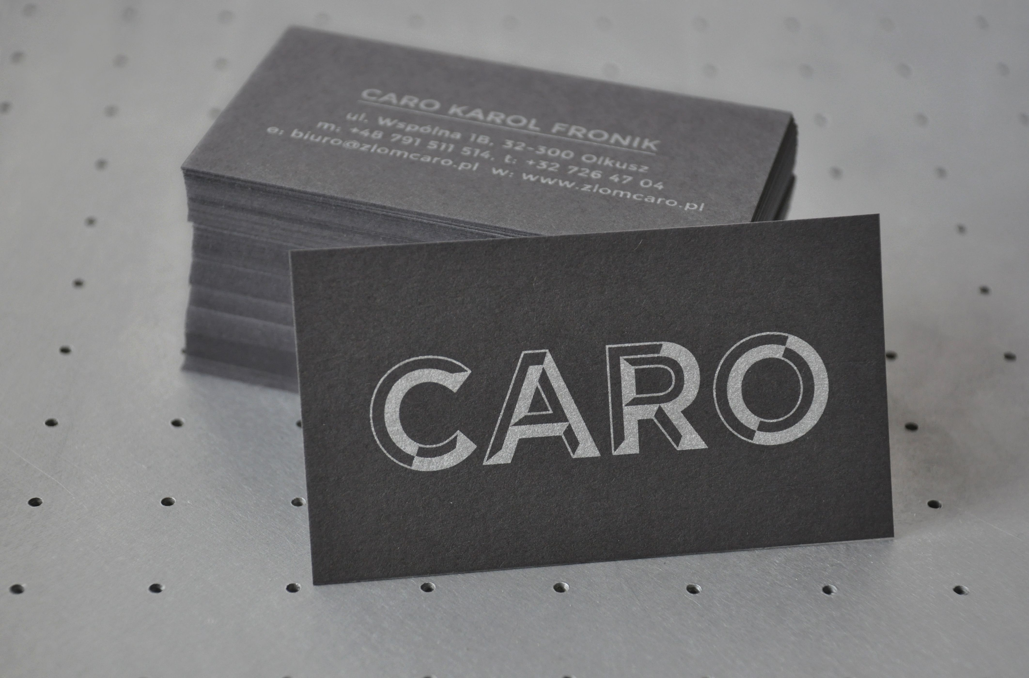 Business cards by @MaduStudio #silkscreen silver on grey <3 ...
