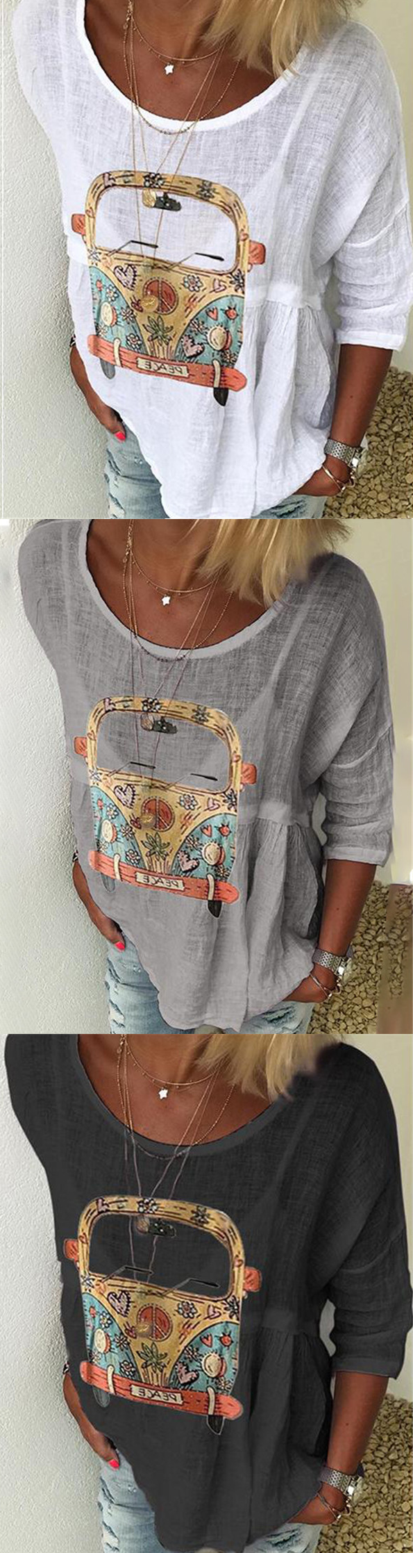 Shop Now>>75% OFF Casual Loose Tops for Your Choice All 2019 Hot Selling Must Have It! is part of Fashion outfits -