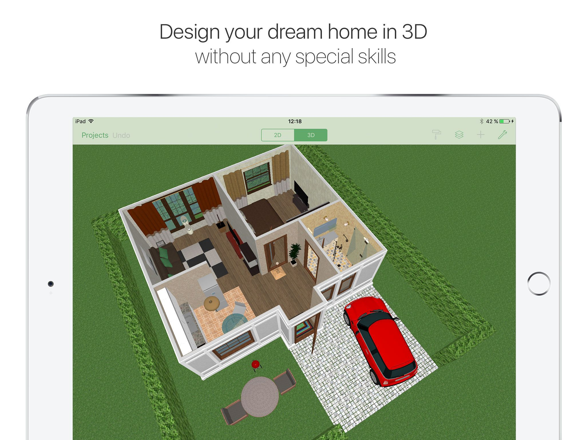 App for iPad. Create an interior design on your iPad. | Apps for ...