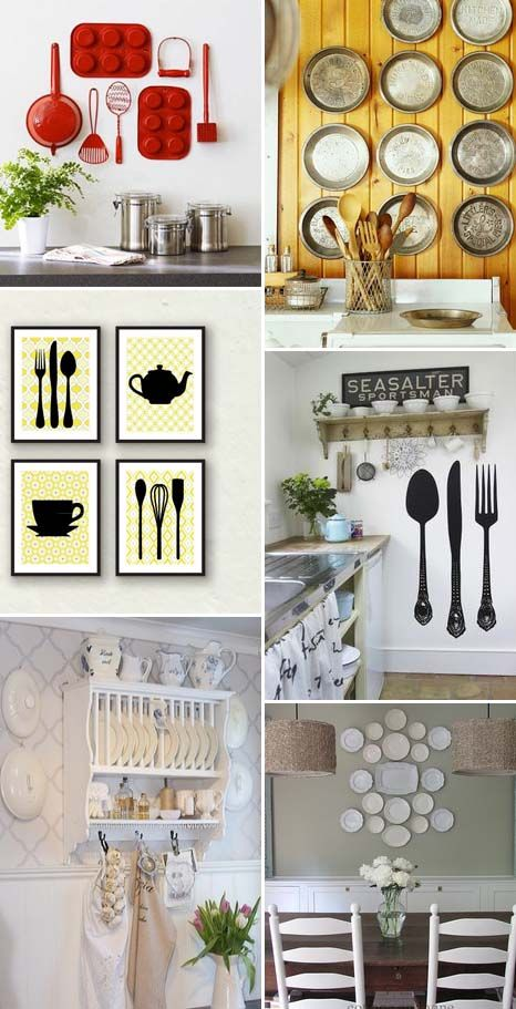 Kitchen wall decor 8 idee per decorare le pareti della for Decorare le pareti