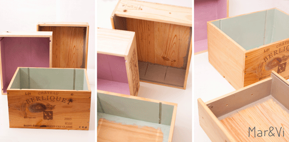 estantera con cajas de vino paso a paso amb caixes caixons i calaixos pinterest bricolaje
