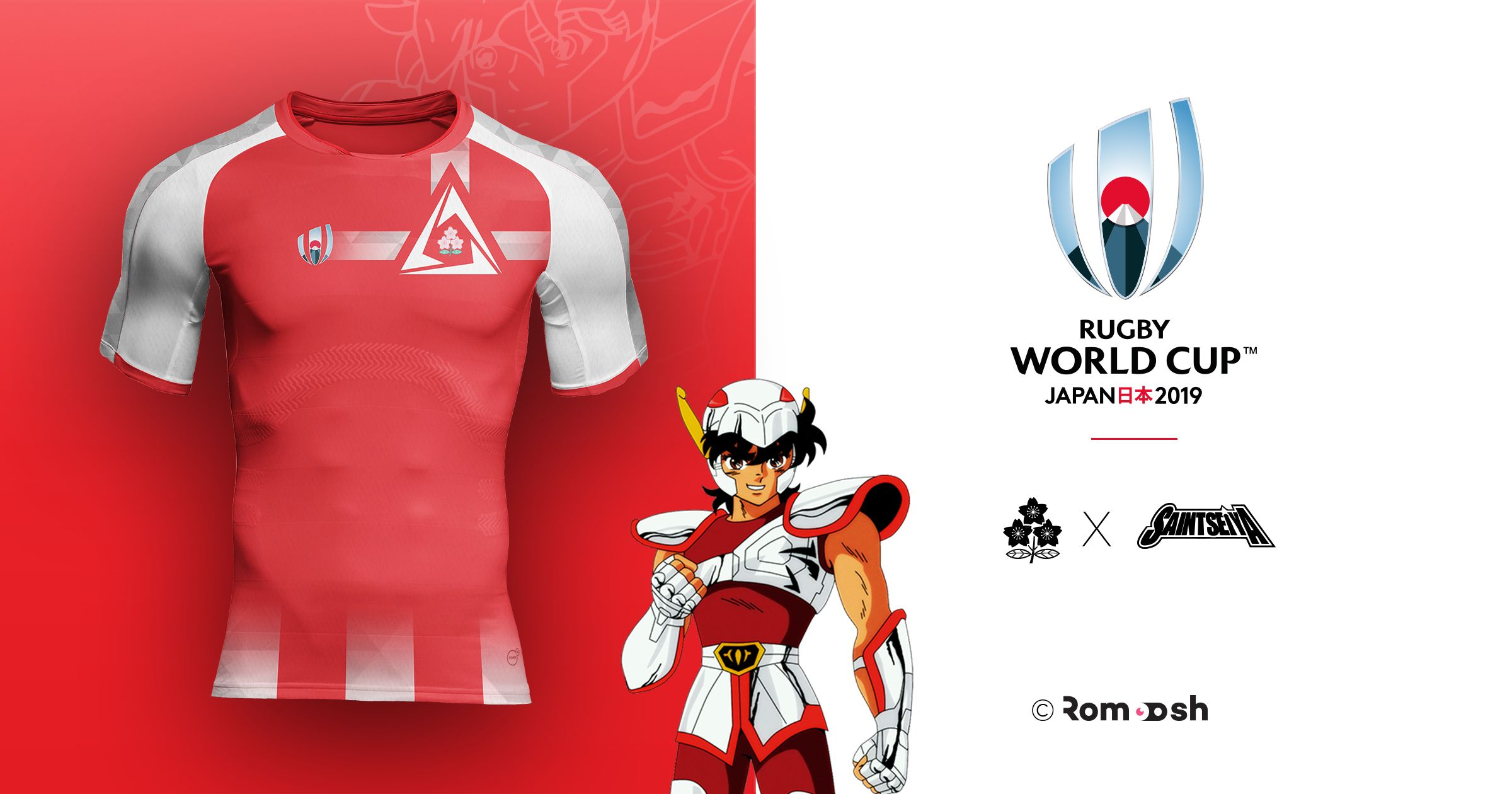 Japan X Pegasus Rugby World Cup Jersey Design Rugby