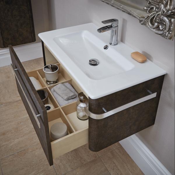 Linen 800mm Basin Wall Mounted Vanity Unit Rust Bathroom Vanity Units Floating Bathroom Vanities Vanity Units