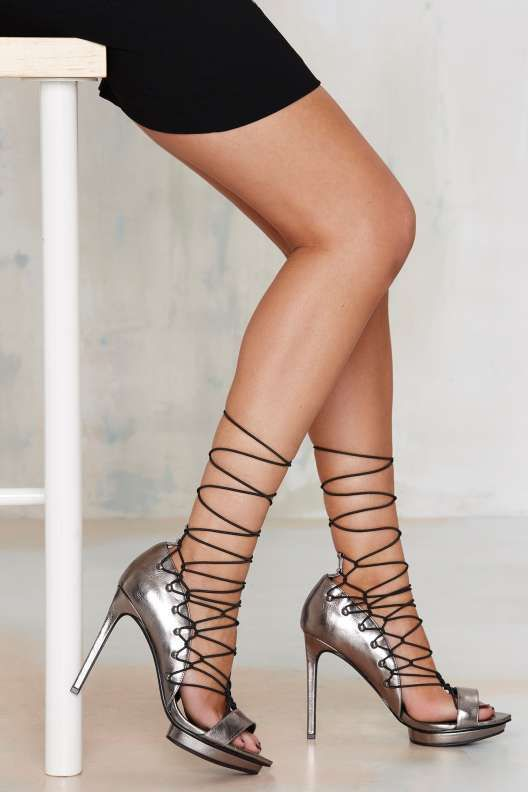 a64a65e20df2 Nasty Gal Wrap Queen Lace-Up Heel