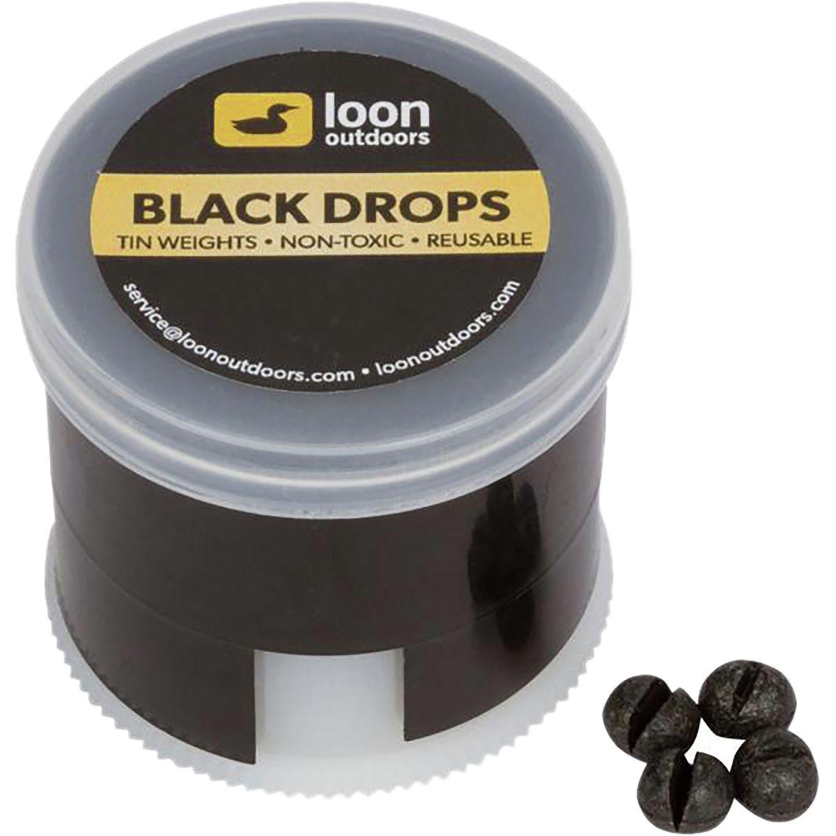 Loon Outdoors Black Drops Twist Pots Split Shot Outdoor Drop Fishing Tools