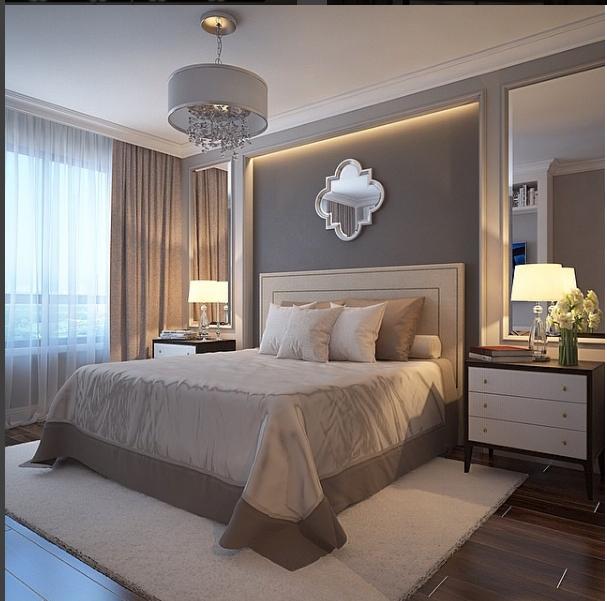 Hotel Bedroom Designs: ILUMINAÇÃO, MOLDURA E ESPELHO QUARTO CASAL