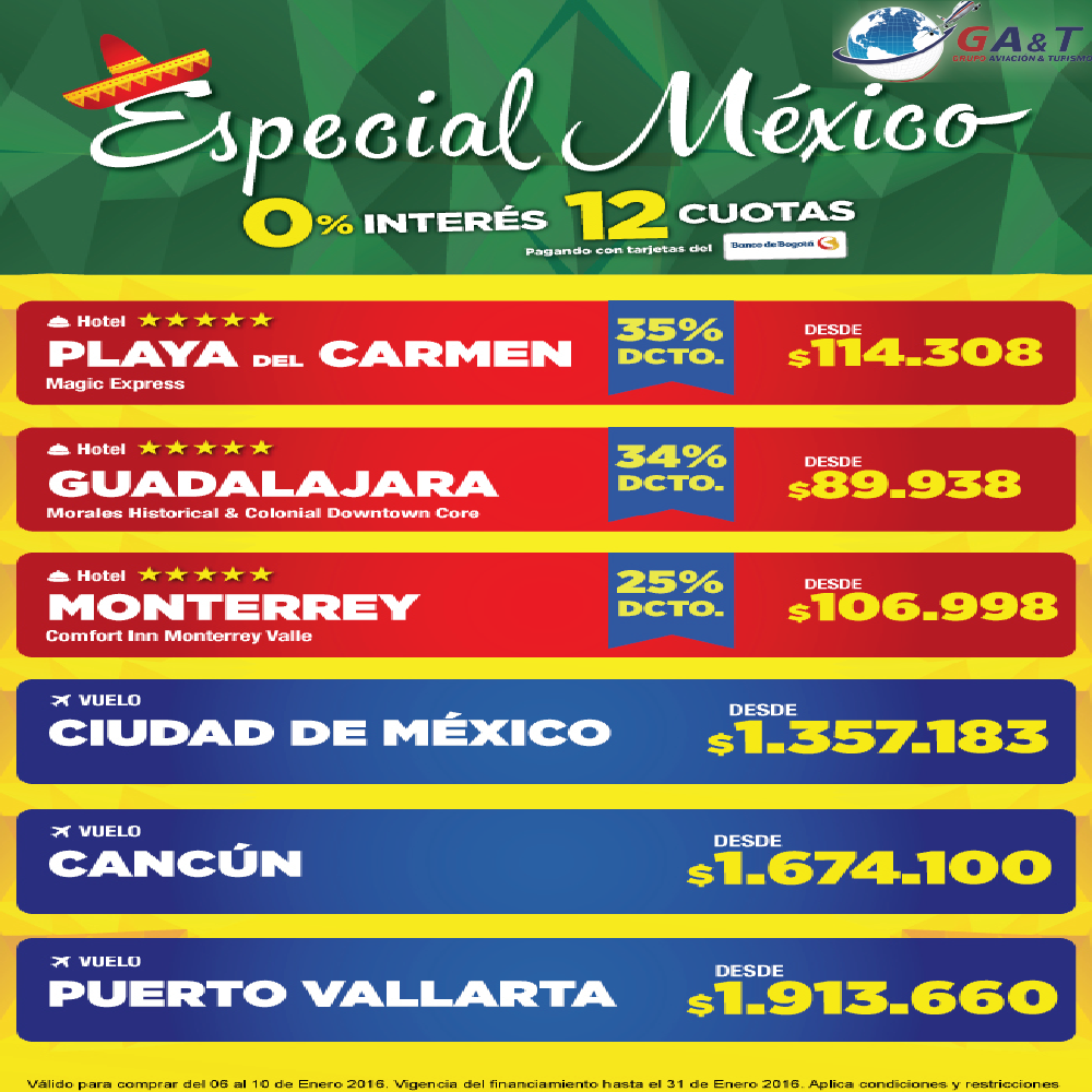 http://www.grupoaviacionyturismo.com/turismo.php visita Mexico con Grupo aviación y turismo