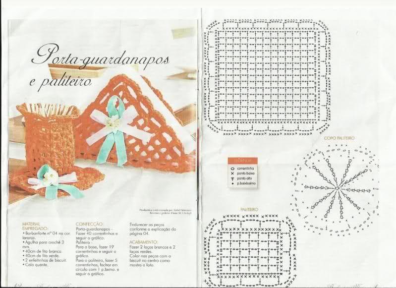SENCILLOS SERVILLETEROS A CROCHET | tejidos | Pinterest | Croché ...