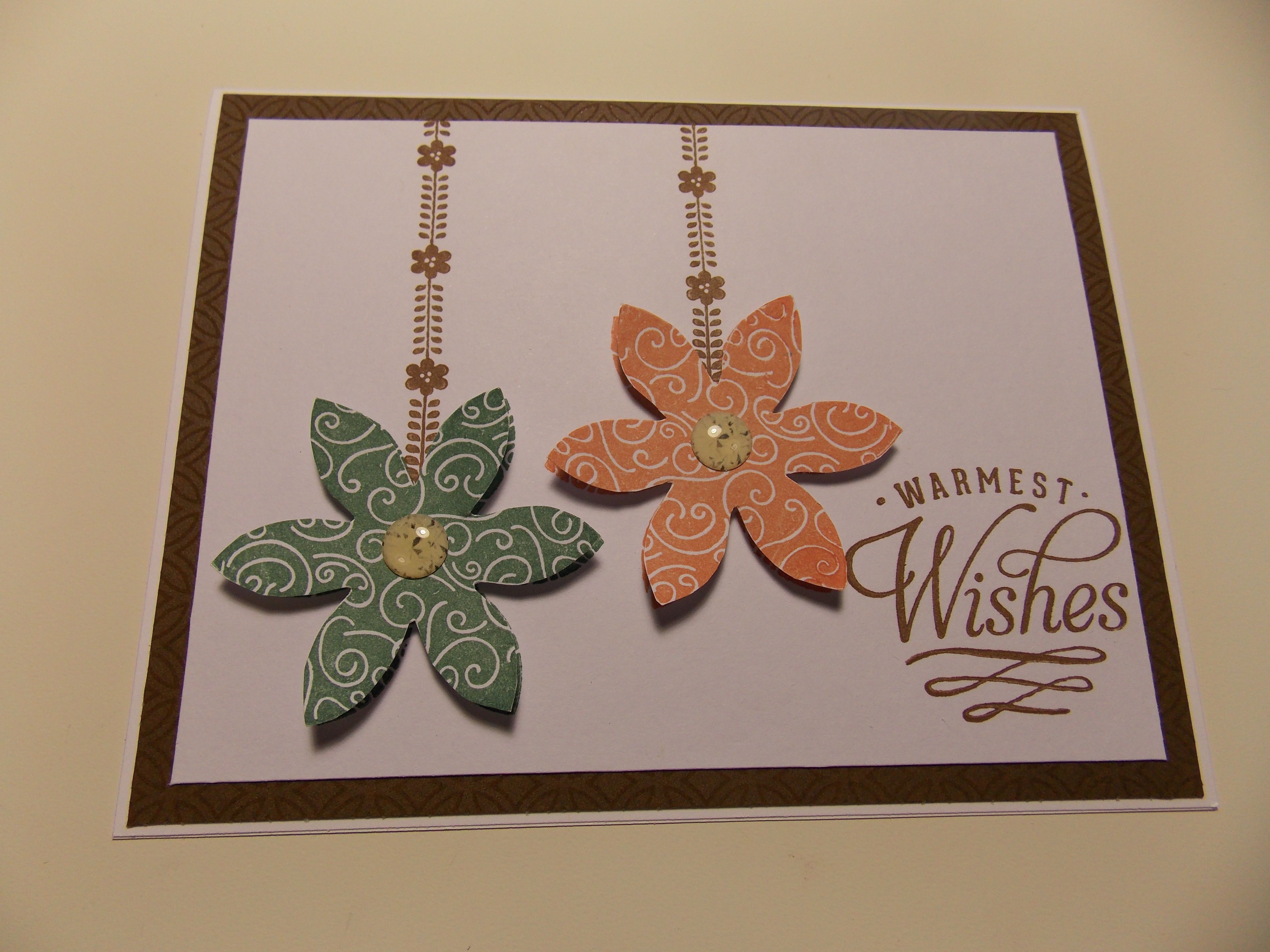 Flowers with CTMH stamp Hello Blooms Flair C1540 (With