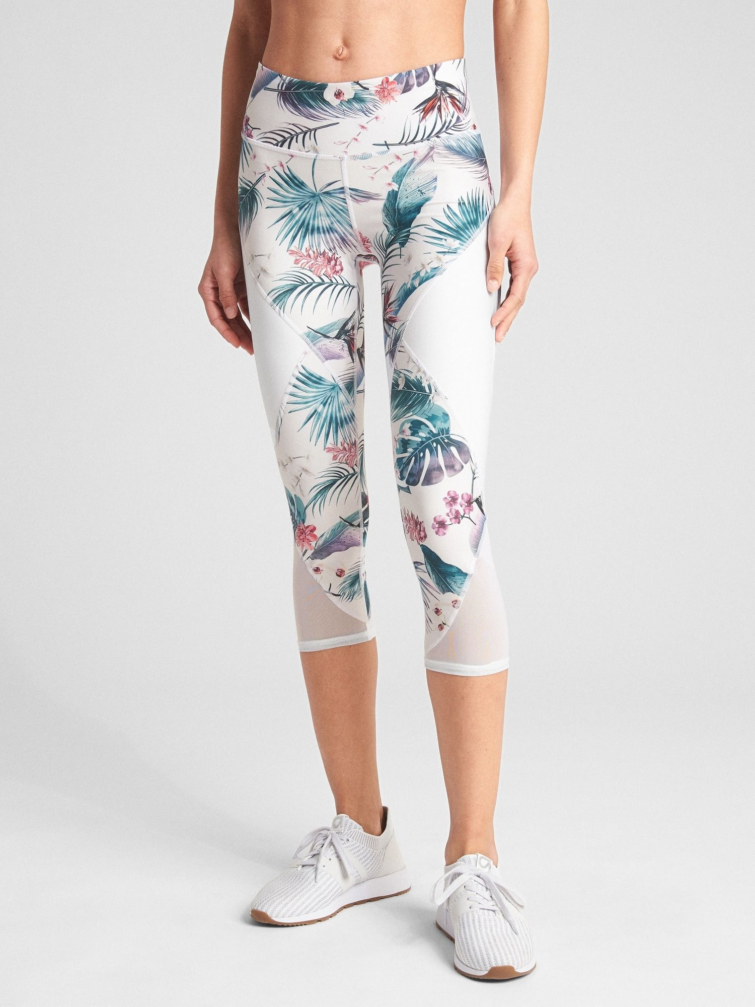 bd1bb31fa3 Gap Fit, GFast Mid Rise Capris in Eclipse, in Tropical Floral, $70