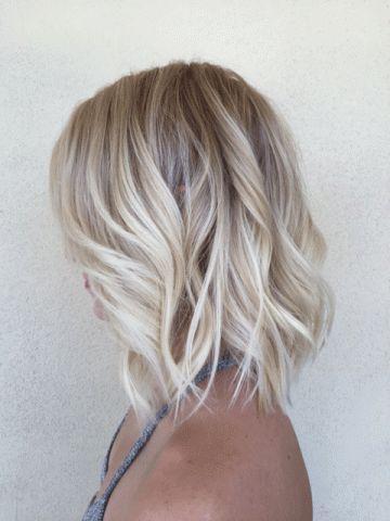 Hot Blonde Lob Hair Color Cute Hairstyles Blonde Lob Hair