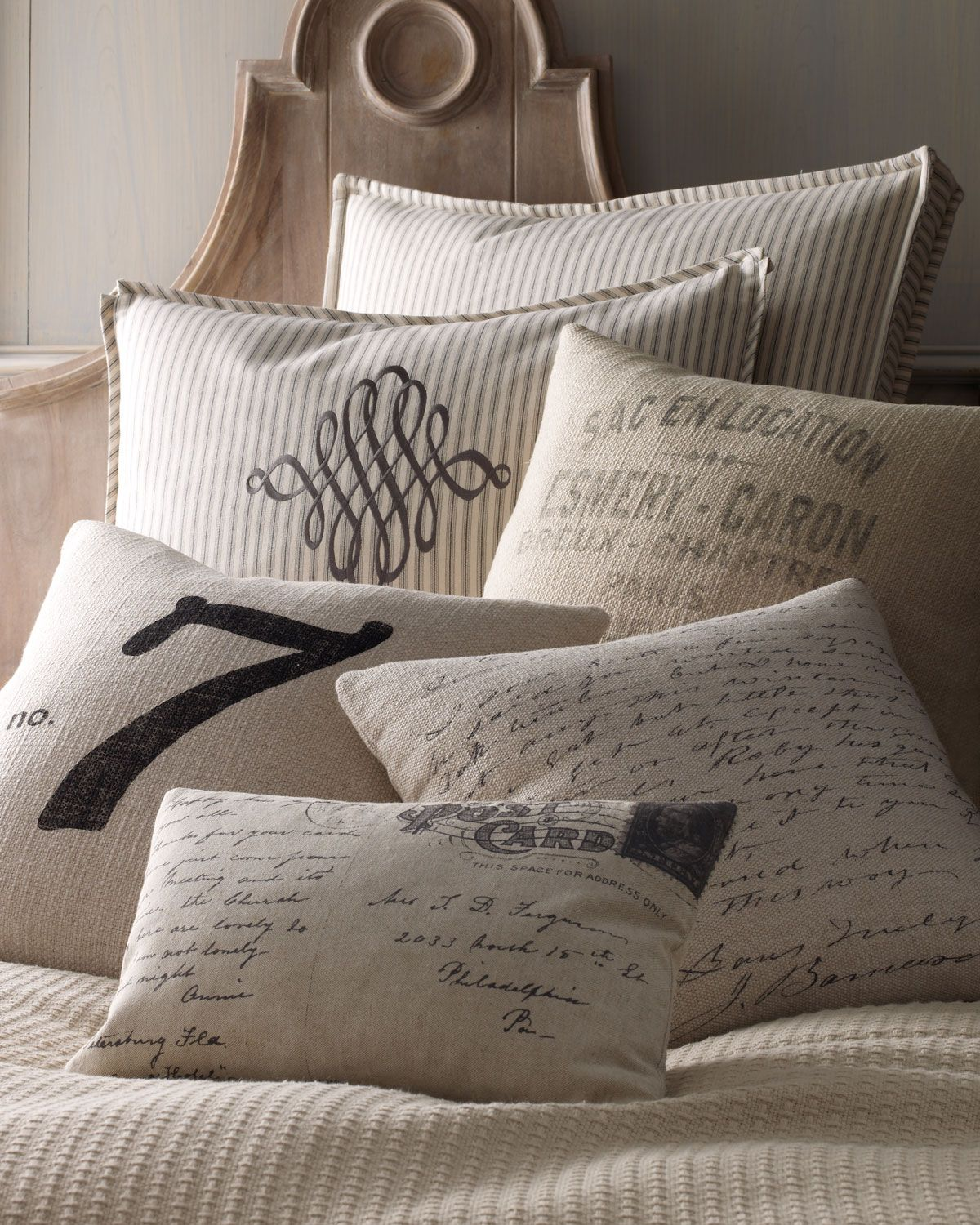 French Laundry Home Lucky Number 7 Pillow With Images