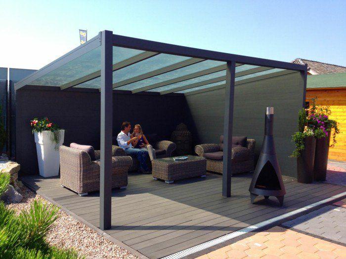 Terrassenüberdachung aus Aluminium macht die Außengestaltung ...