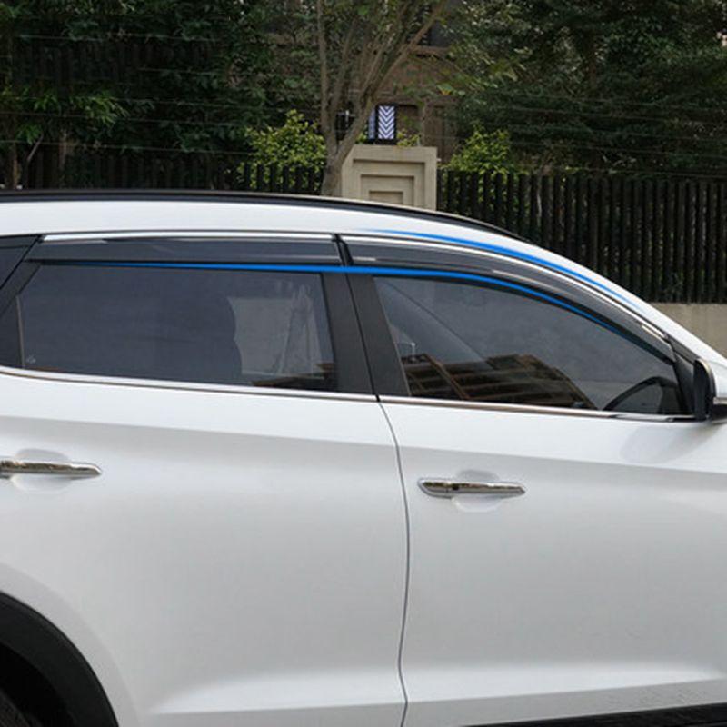 Car Accessories Window Visor Sun Rain Wind Deflector Awning Shield ...
