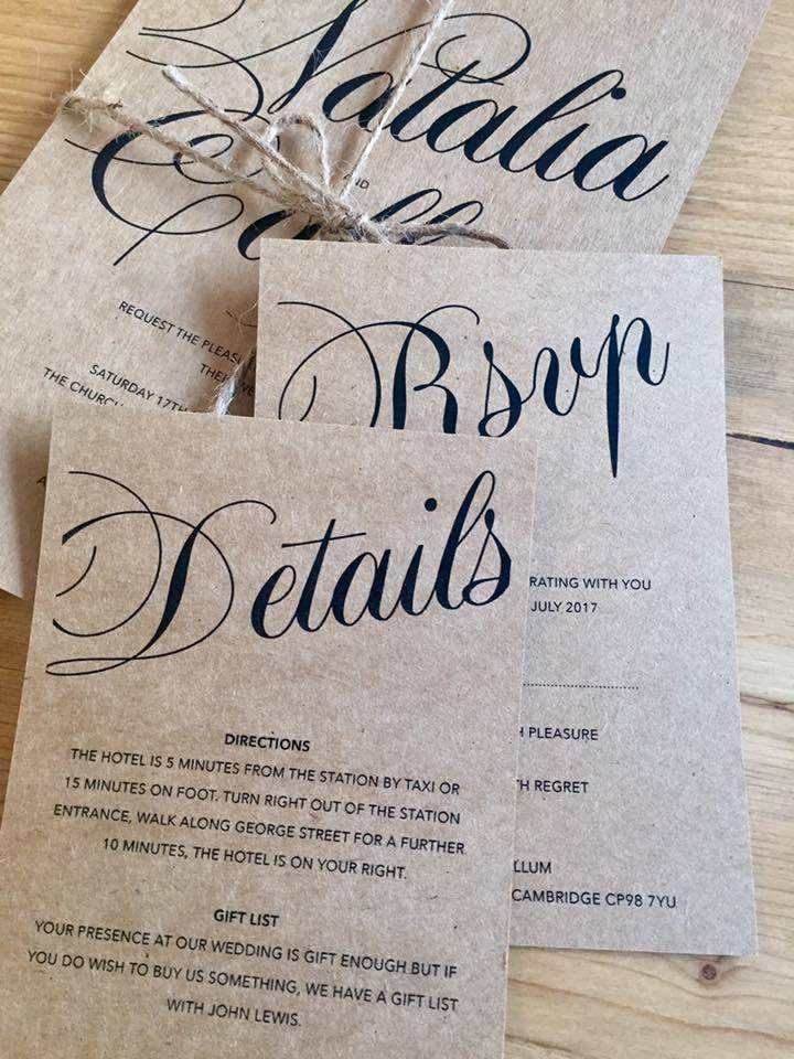 Sample \'Phoebe\' Personalised Wedding Invitations Evening Invite ...