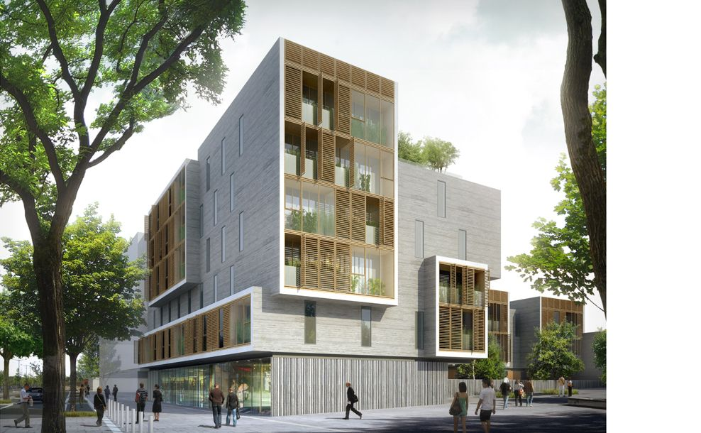 Foyer Social Architecture : Ameller dubois associés architecture nantes