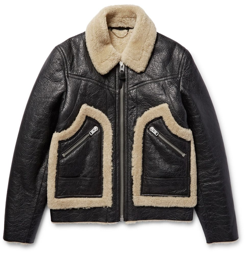 Coach Stinger Textured Shearling Jacket Mens Designer Leather Jackets Designer Leather Jackets Shearling Jacket [ 1002 x 960 Pixel ]