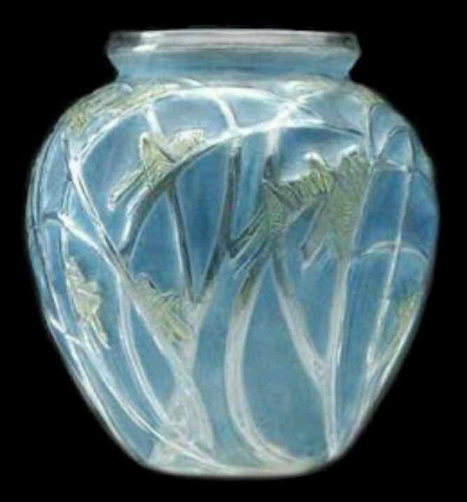 René Lalique | Lalique Vase | Pinterest | Glas, Vase und ...