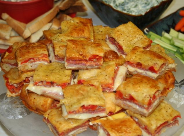 Antipasto Squares: Photo - 13 | Just A Pinch Recipes #antipastosquares
