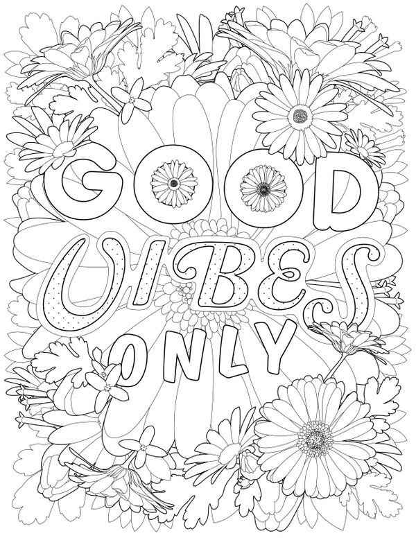 More Good Vibes Coloring Book by Thaneeya McArdle — Thaneeya.com | 776x600