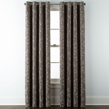 Buy JCPenney HomeTM Quinn Leaf Grommet Top Curtain Panel Today At Jcpenney