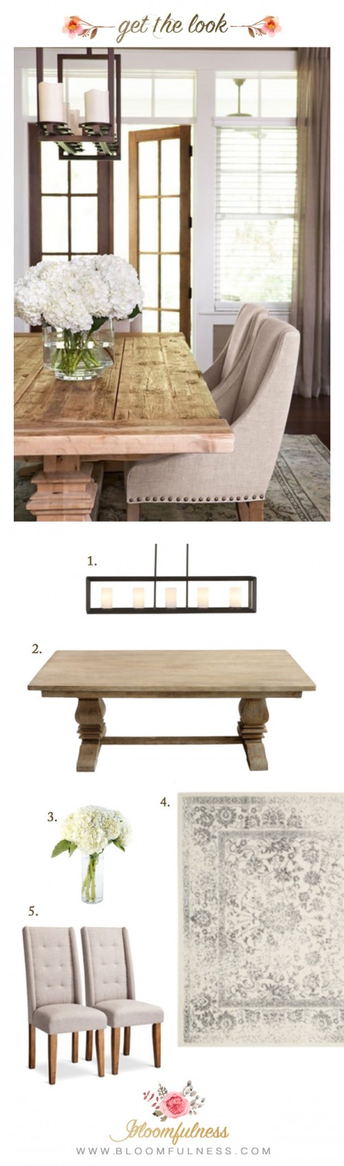 Rustic Neutral Dining Room: Get the look for less!