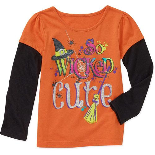 Halloween Baby Toddler Girl Graphic Hangdown Tee Baby Clothing