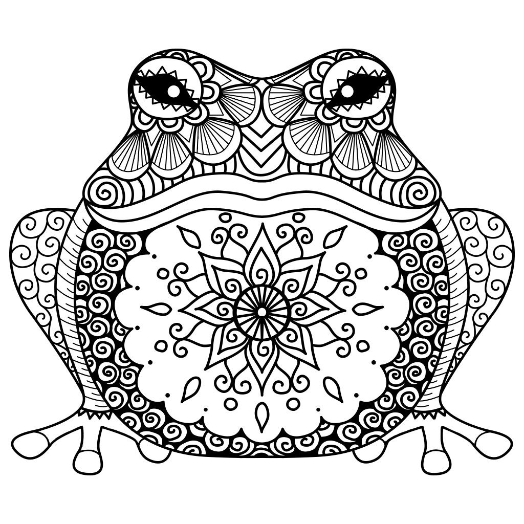 Frog Coloring Pages By Kamber Lavonne On Wallpapers Animal