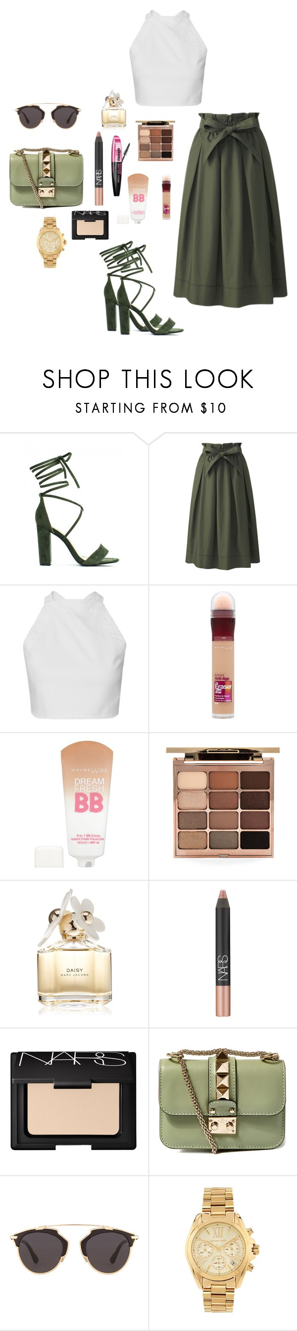 """""""M"""" by butnotperfect ❤ liked on Polyvore featuring Uniqlo, Maybelline, Stila, L'Oréal Paris, Marc Jacobs, NARS Cosmetics, Valentino, Christian Dior and Michael Kors"""