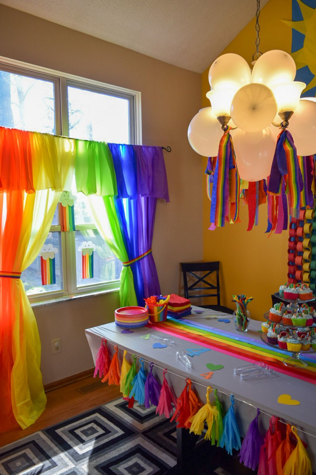 Pin By Noemi Ordoñez On Rainbow Party For Emmi S 4th Birthday Creative Birthday Party Ideas Party Decorations Kids Girls Trolls Birthday Party