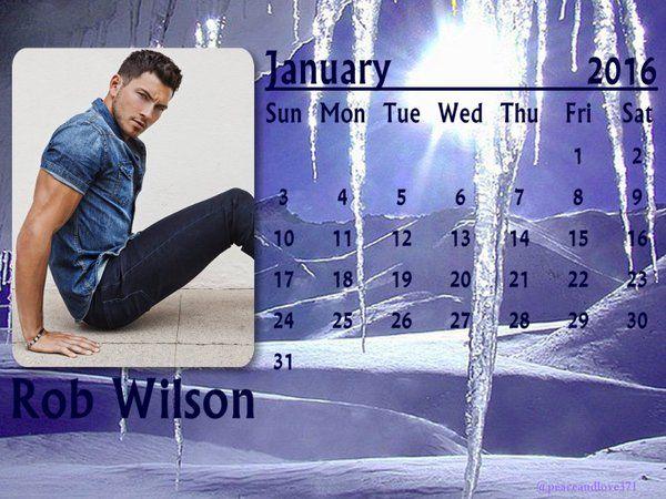 Robert Scott Wilson January 2016 Calendar