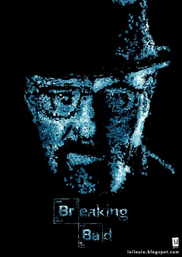 T-Shirt Heisenberg Breaking Bad Cristalli Serie TV Cult Fan Art