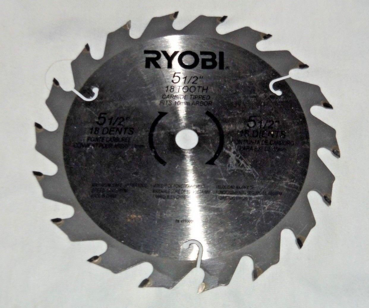Ryobi 18v 55 carbide tipped circular saw blade pn 4990001 new ryobi 18v 55 carbide tipped circular saw blade pn 4990001 greentooth Image collections
