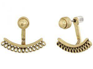 Lucky Brand Openwork Earrings Jacket (Gold) Earring