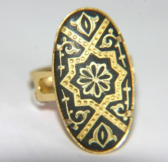 Damascene Ring almost never see rings Vintage Jewelry and Other