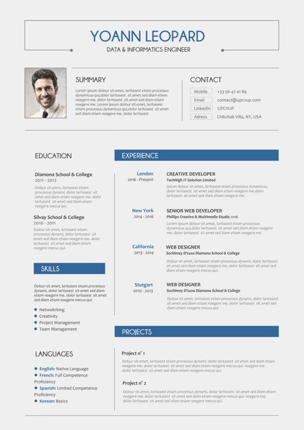 Exemple CV ingénieur | Cv ingenieur, Exemple cv et ...