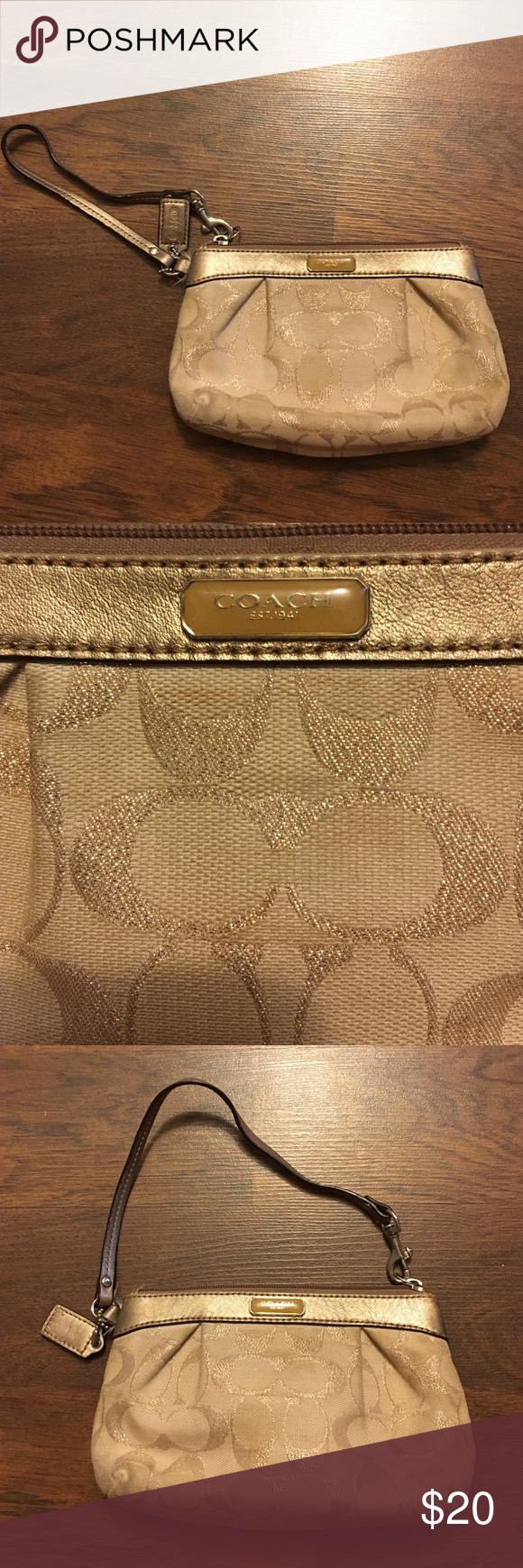 Coach Wristlet Authentic Coach Wristlet, only used a few times Coach Bags Clutches & Wristlets