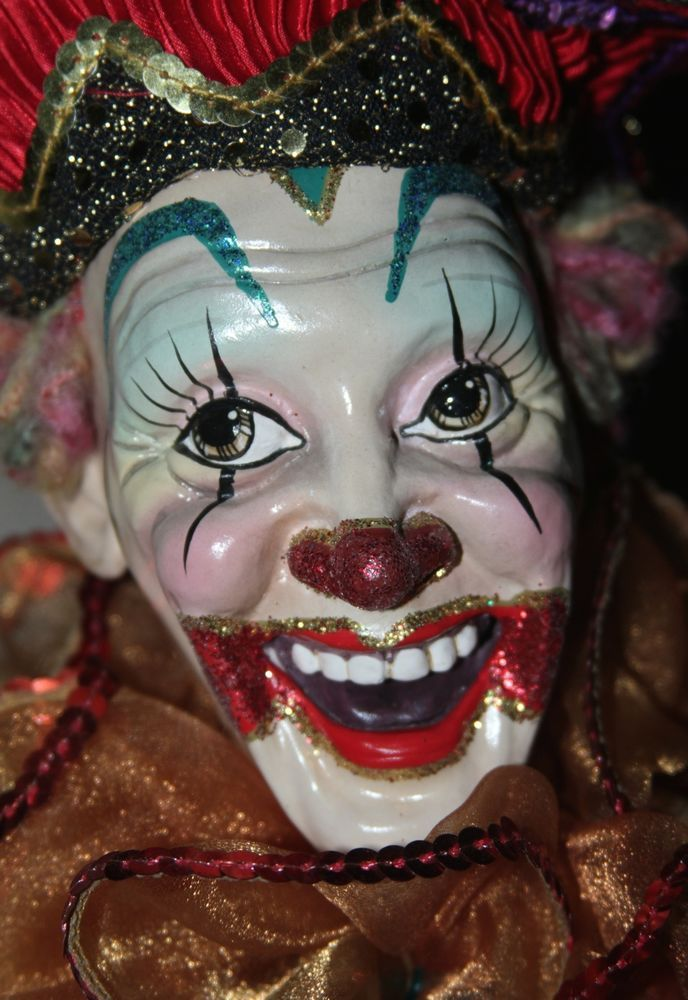 Katherine's Collection CLOWN Dolls Christmas  New With Tag 50""