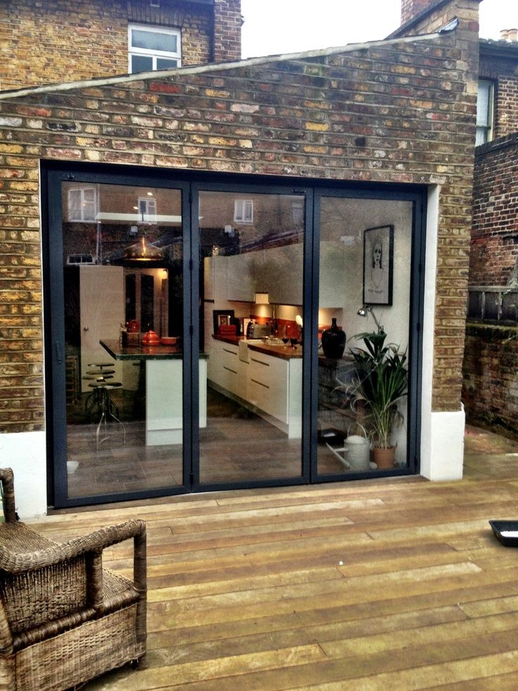 Bifold French Doors Home Design Ideas Pictures Remodel: Large Bi-fold Doors Leading From The Kitchen Onto The Deck