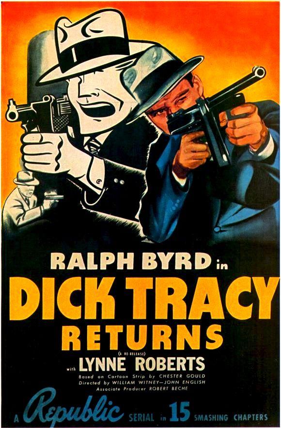 Dick Tracy returns Ralph Byrd vintage movie poster