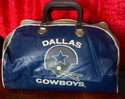 Vintage Dallas Cowboys Nfl Gym Bag Tote Texas Vinyl Ebay